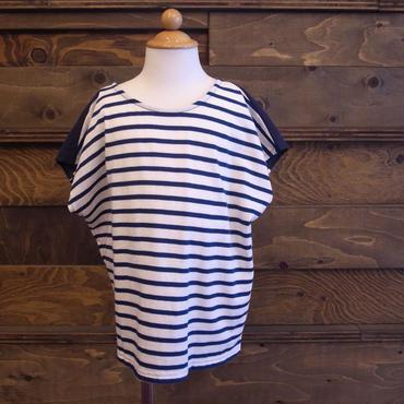 【 whip cream 】リボン切替2wayTシャツ