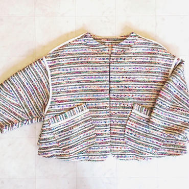 【 mania TOKYO 】Colorful Tweed Jacket -MIX-