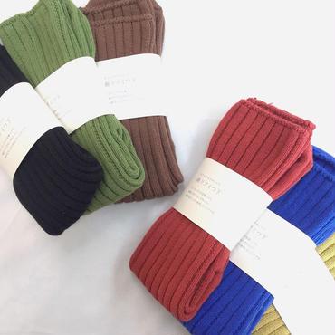 【 mokono 】綿リブくつ下