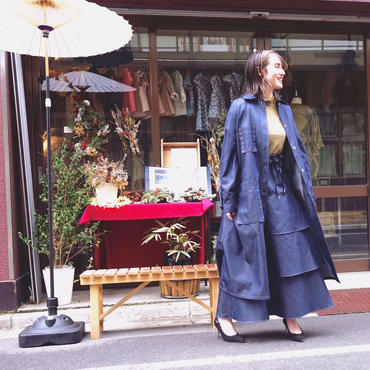【 Create Clair 】Smocking trench coat