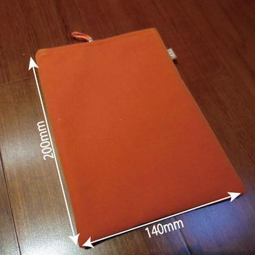 フェルトカバー(袋タイプ)/オレンジ+保護フィルム セット