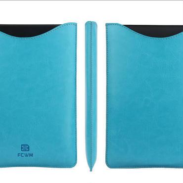 筒型カバー ブルー + 保護フィルムセット