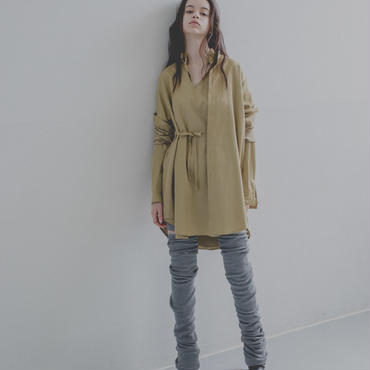 twin long shirt (beige)
