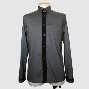 綿ストレッチサファリ風シャツ