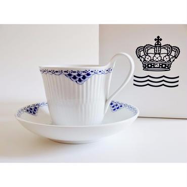 ロイヤルコペンハーゲン プリンセスブルー ハイハンドルカップ&ソーサー