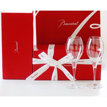 BACCARAT(バカラ)  オノロジー シャンパンフルート  ペア(バカラ手提げ紙袋、リボン付属)