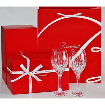 バカラ Baccarat ワイングラス 2609-213JUPITER ジュピター ペア(バカラリボン、手提げ紙袋付属)