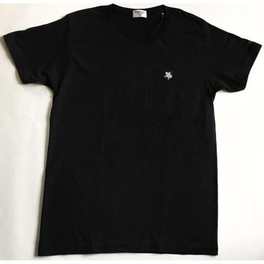 KIBAMUSHA EMBROIDERY TEE/鬼馬武者刺繍Tシャツ/KOBUSHI BRAND/コブシブランド(BLACK/SILVER)
