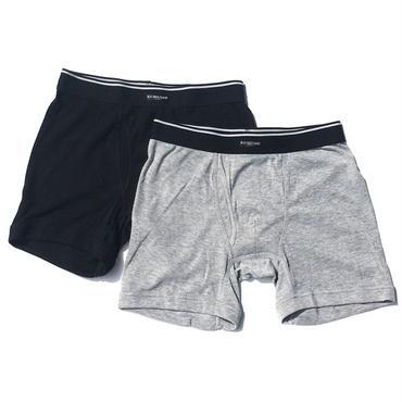 MEN`S BOXER SHORTS  BLACK&GRAY(男性用 下着 忍び袋仕様 ボクサーパンツ シークレットポケット仕様 ブラック&グレー) セット KOBUSHI BRAND