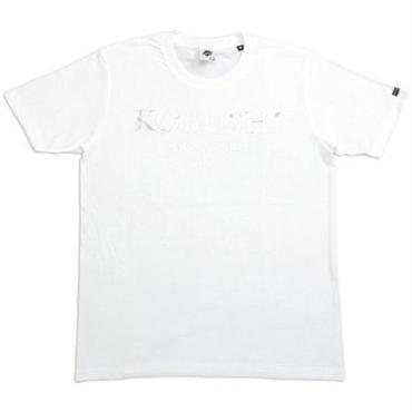 JPN LOGO TEE/ジェイピーエヌロゴTシャツ/KOBUSHI BRAND/コブシブランド(WHITE/SILVER)