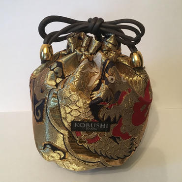 PREMIUM POUCH GOLD DRAGON/プレミアム 巾着袋 金龍/KOBUSHI BRAND/コブシブランド(GOLD)