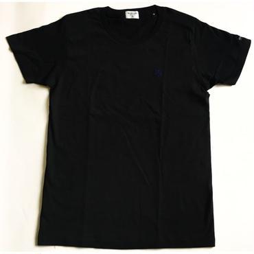 KIBAMUSHA EMBROIDERY TEE/鬼馬武者刺繍Tシャツ/KOBUSHI BRAND/コブシブランド(BLACK/NAVY)