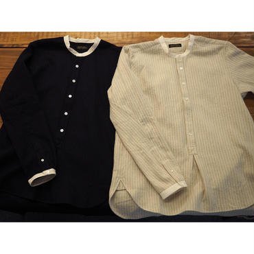 MULLER & BROS. / stand collar shirts (cotton/wool)