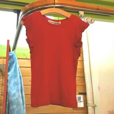 【Donkey Jossy】フリルTシャツ(RED)