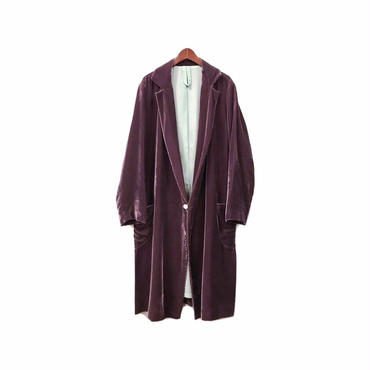 Edwina Horl - Velor Long Gown Coat (size - S) ¥28000+tax
