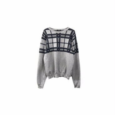 """ CASH CA "" Check Knit Tops(¥8000+tax/S)"