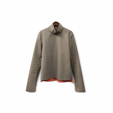 JOHN LAWRENCE SULLIVAN - Mock necked Wool Tops (size - F) ¥12000+tax