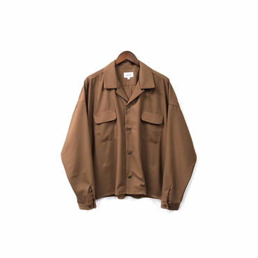 yotsuba - Open Collar Shirt / Brown ¥18000+tax