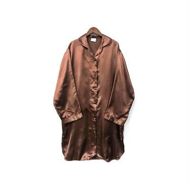 USED - Silk Open Collar Long Shirt ¥8500+tax