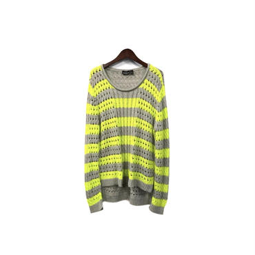 USED - Border Design Knit ¥7000+tax