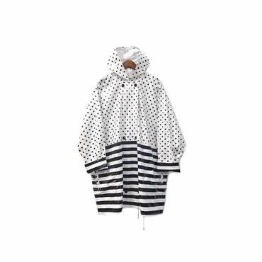 """ USED "" Dot&Border Hooded Rain Coat (size - M) ¥11000+tax→¥7000+tax【着画あり】"