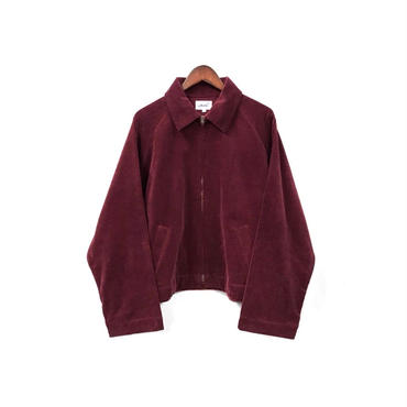 yotsuba - Corduroy Zip Jaket / Burgundy ¥28000+tax