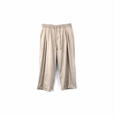""" yotsuba "" Fake Suede 4tuck Wide Pants / Beige ¥26000+tax【着画あり】"