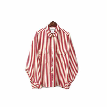USED - Stripe Over Shirt ¥7000+tax