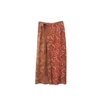 USED - Paisley Silk Wrap Skirt ¥10500+tax