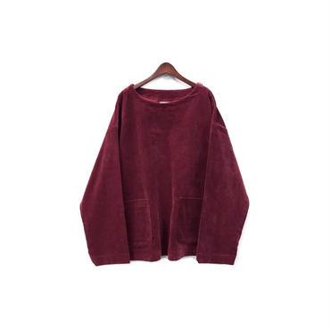 yotsuba - Corduroy Pullover Tops / Burgundy ¥26000+tax