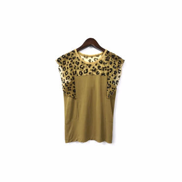 """ TOGA "" Leopard Switching Design Tops ¥9500+tax【着画あり】"