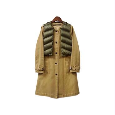 muller of yoshiokubo - No Collar Coat & Down Vest (size - 36) ¥20500+tax
