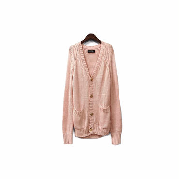 """ UNUSED "" Rayon Knit Long Cardigan (size - 2) ¥12000+tax"