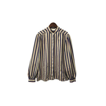 USED - Stripe Blouse ¥9000+tax