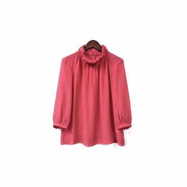 CROLLA - Hight necked Blouse (size - 38) ¥6000+tax→¥4800+tax