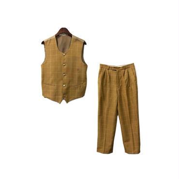 USED - Check Vest & Slacks Set up ¥12000+tax