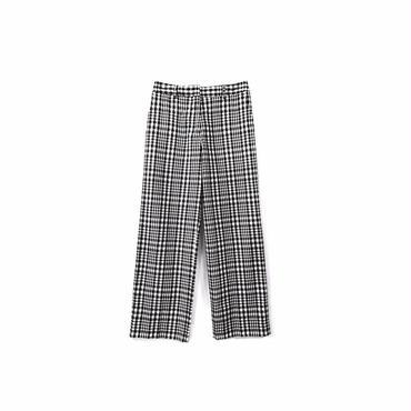 """ BACCA "" Cotton&Nylon Check Wide Pants (size - 36) ¥10500+tax【着画あり】"