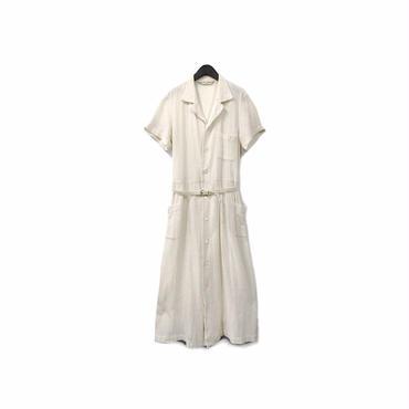 """ COMME des GARCONS "" Open Collar Design Long Shirt One-piece ¥18500+tax【着画あり】"