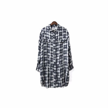 """ MM6 "" Graphic Rayon Long Shirt (size - F) ¥13500+tax→¥10500+tax【着画あり】"