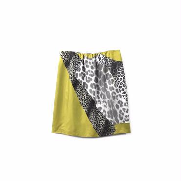 """ DRIES VAN NOTTEN "" Leopard Design Silk Skirt (size - 36) ¥12500+tax→¥9500+tax【着画あり】"