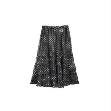 tricot COMME des GARCONS - Dot Seethrough Flared Skirt ¥9000+tax
