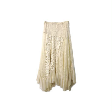 GRACE CONTINENTAL - Lace Design Long Skirt (size - 36) ¥13500+tax