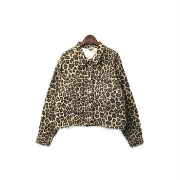 USED - Leopard Short Jacket ¥7000+tax