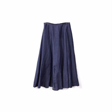 """ Y's "" Linen&Rayon Long Wrap Skirt (size - 3) ¥13500+tax→¥9500+tax【着画あり】"