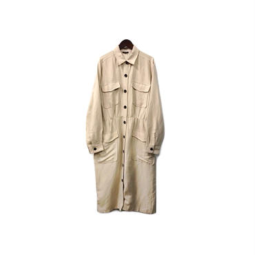 USED - Linen & Rayon Shirt One-piece / Coat ¥13000+tax