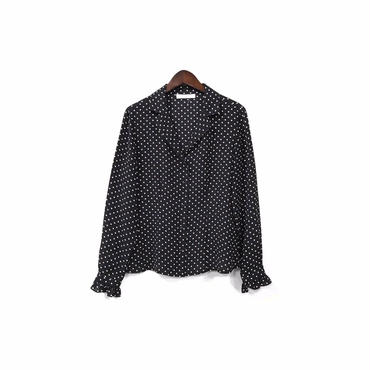""" USED "" Dot Silk Open Collar Shirt ¥8500+tax 【着画あり】"