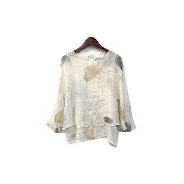 ohta - Silk Graphic Design Tops ¥10500+tax