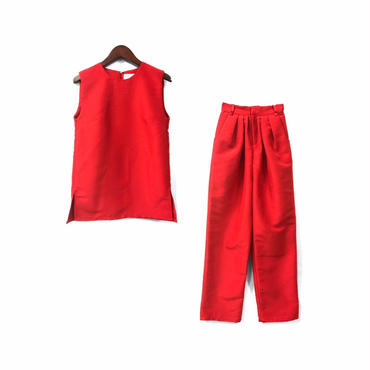 """"""" SO for dignified women """" Sleeveless Tops & Easy Wide Pants Set-up ¥22000+tax"""