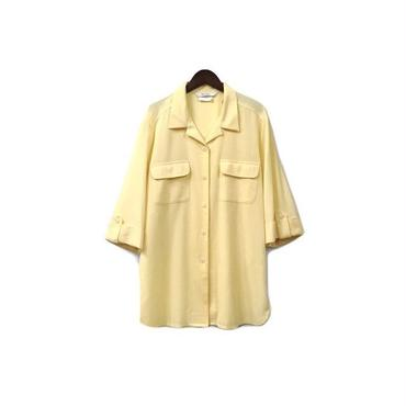 """"""" USED """" Open Collar Rayon Shirt (size - M) ¥9000+tax【着画あり】"""