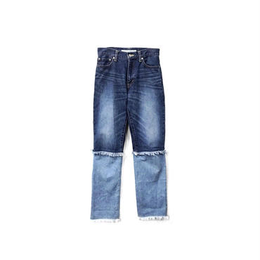JOHN LAWRENCE SULLIVAN - Switching Design Denim Pants (size - 6) ¥15000+tax